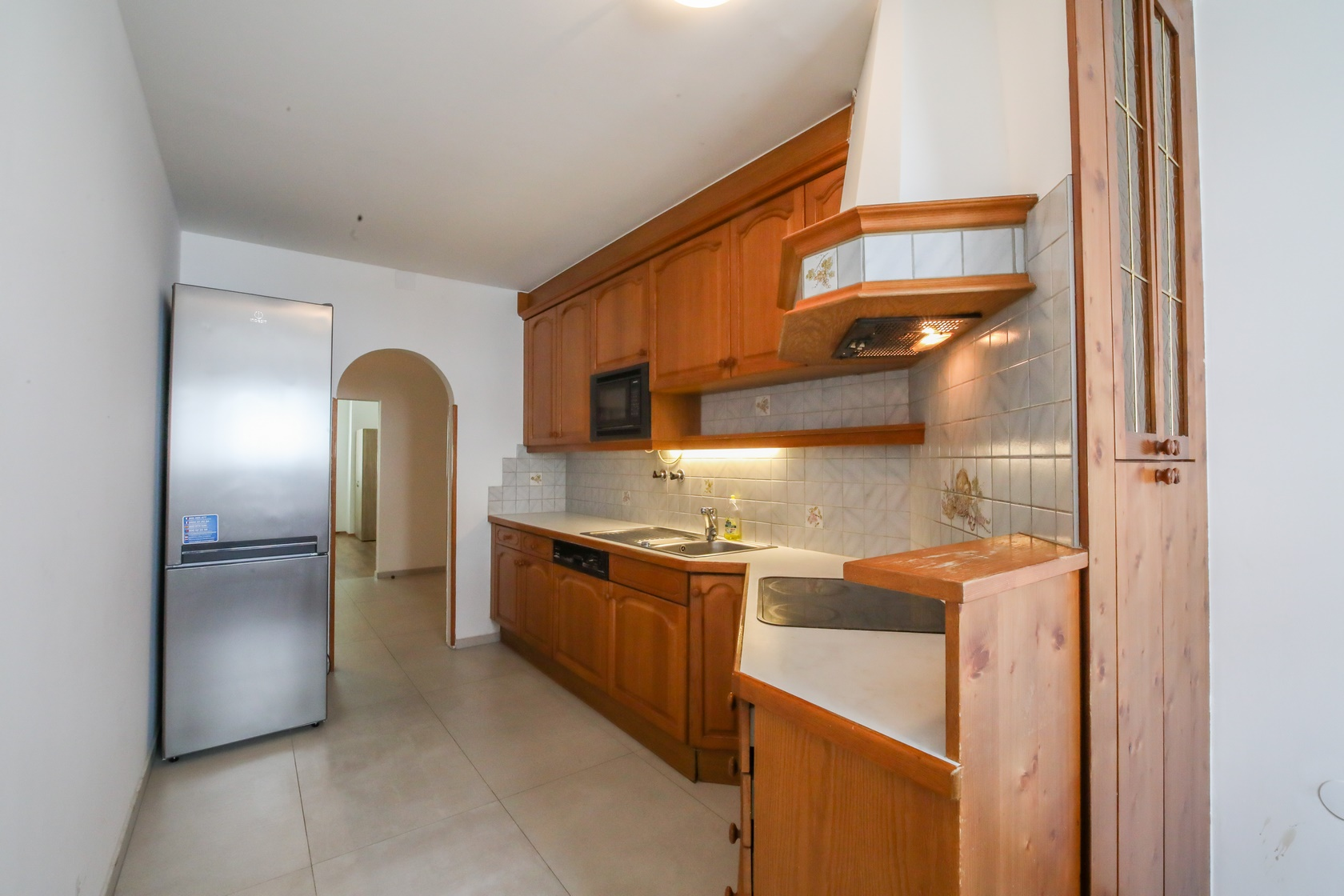 Monteurunterkunft Top M1 in 1120 Meidling Küche und Kühlschrank